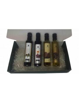 LOTE GOURMET ACEITES CONDIMENTADOS: AOVE + AOVE Condimentados con Trufa y Boletus + Vinagre Artesano De Jerez