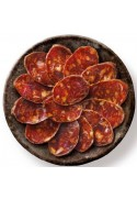 Chorizo cular de cebo loncheado . Lote 10 bandejas de 100 Grs/Ud