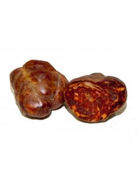 Morcón Ibérico de bellota embutido en tripa gruesa, elaborado con magro de cerdo ibérico. Curación 12 meses. Peso 0,9 a 1,250 Kg