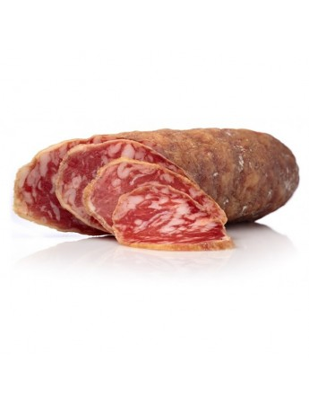 Salchichón cular Ibérico de bellota elaborado con magros del cerdo ibérico.Curación 3 meses. Peso de 0.9 kg a 1.250 kg