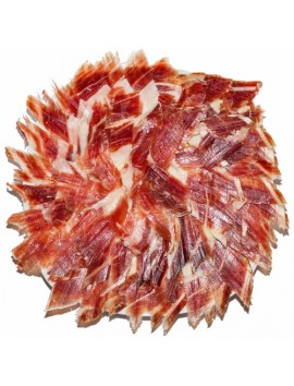 Jamón Ibérico (Pata negra) Loncheado a Cuchillo . Lote de 5 platos redondos de 100 Grs/Ud