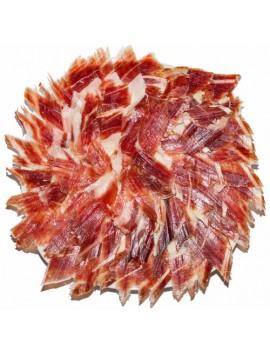 Jamón Ibérico de Guijuelo (Pata negra) Loncheado a Cuchillo y envasados al vacío. Lote de 20 platos redondos de 100 Grs/Ud