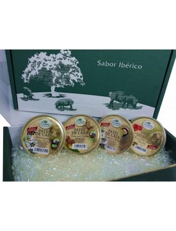 Morcón Ibérico (750 Gr) + Sobrasada Ibérica (500 Gr) + Pate Ibérico Con Cerezas (140 Gr) + Crema Untar Jamón Ibérico (70 Gr).