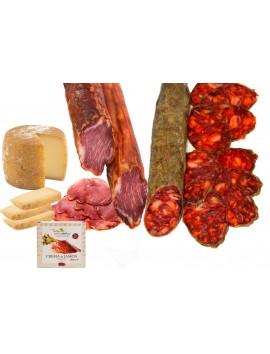 Lomo Ibérico (350 Gr) + Chorizo Ibérico (350 Gr) + Cuña Queso Viejo De Oveja (220 Gr) + Crema de Jamón Ibérico (70 Gr)
