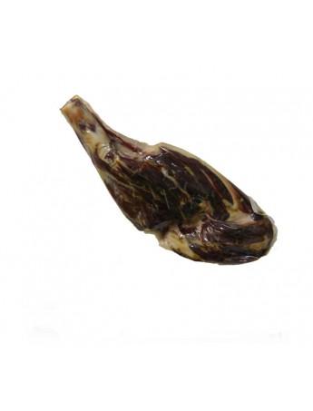 Jamón Ibérico de Bellota deshuesado (Pata Negra). Curación más de 36 meses en bodega. Peso de 5 a 5,5 Kg.