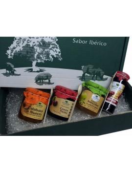 MERMELADAS GOURMET ARTESANAL: Manzana con Aceituna + Cereza Picota + Calabaza Con Nueces + Cereza y Chocolate Blanco en caja
